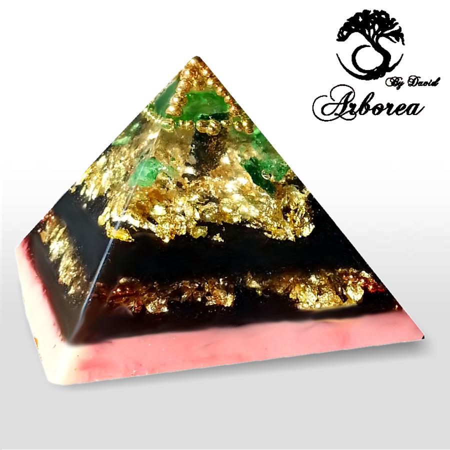 Emerald Arborea Orgone Pyramid, Love, Heart